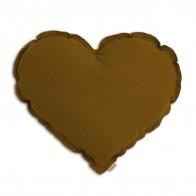 Poduszka serce musztardowa