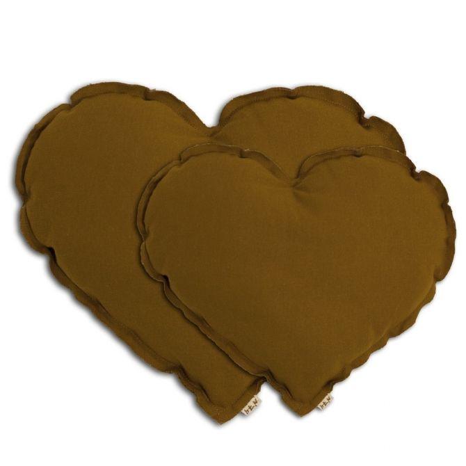Poduszka serce Heart cushion gold musztardowa - Numero 74