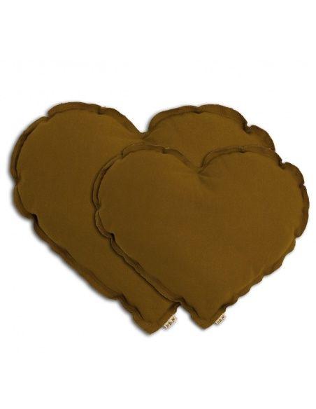 Poduszka serce musztardowa - Numero 74