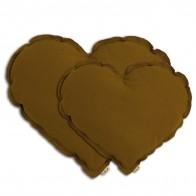 Poduszka serce Heart cushion gold musztardowa