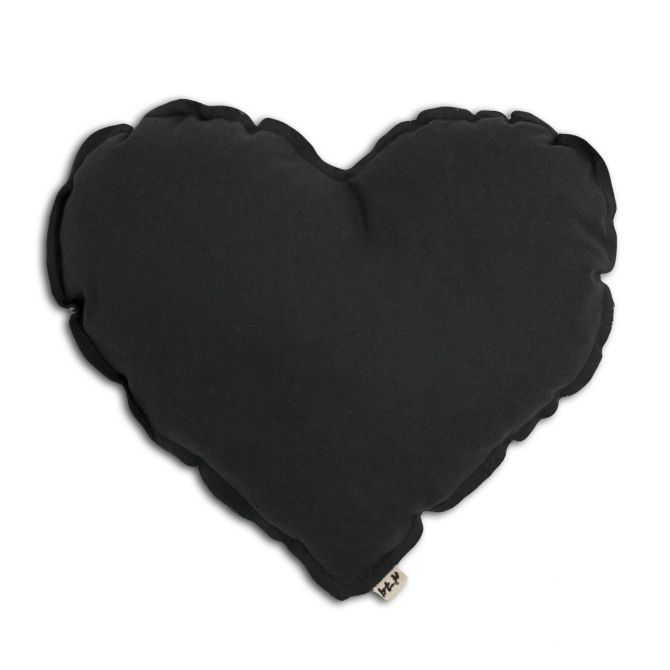 Numero 74 Heart cushion dark grey