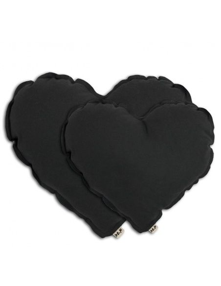 Heart cushion dark grey - Numero 74