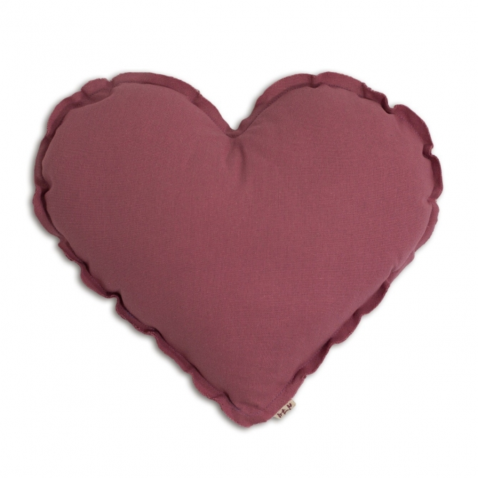 Numero 74 Heart cushion baobab rose