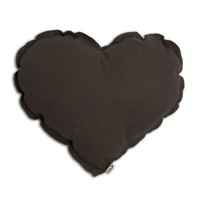 Heart cushion taupe - Numero 74
