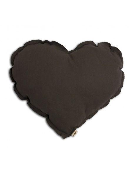 Heart cushion taupe - Numero 74