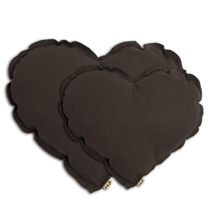 Poduszka serce Heart cushion taupe oliwkowa - Numero 74