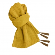 Scarf mum sunflower yellow