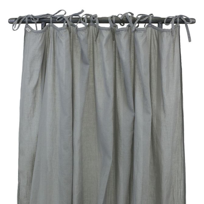 Zasłona Gathered Curtain silver grey szara - Numero 74