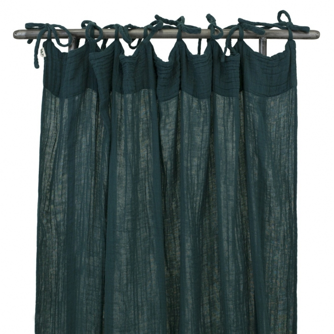 Flat Curtain teal blue - Numero 74