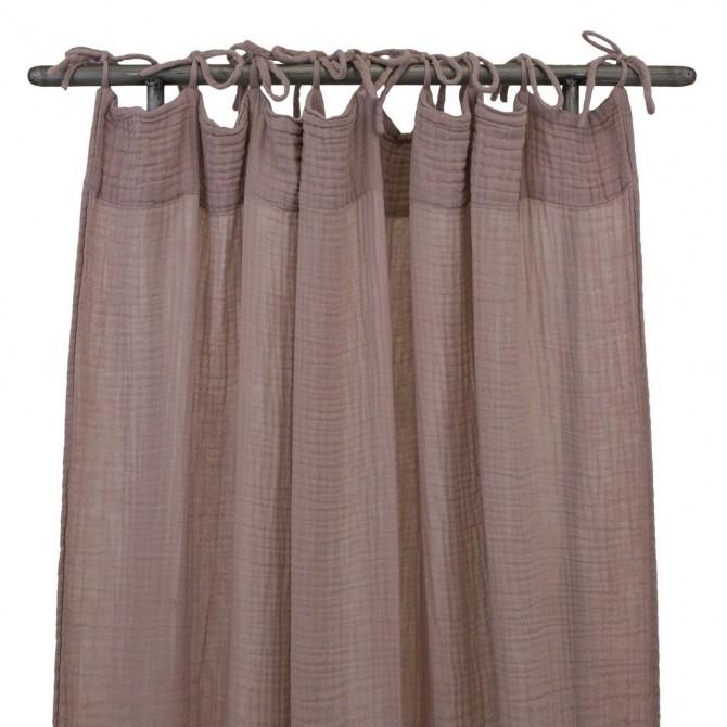 Zasłona Flat Curtain dusty pink zgaszony róż Numero 74 Home &
