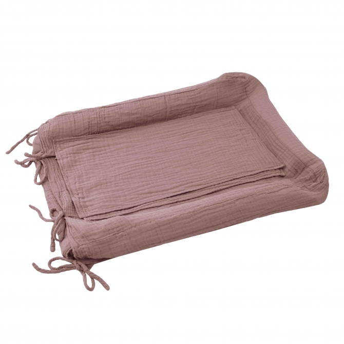 Numero 74 Changing Pad Cover Square dusty pink