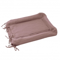 Changing Pad Cover Square dusty pink