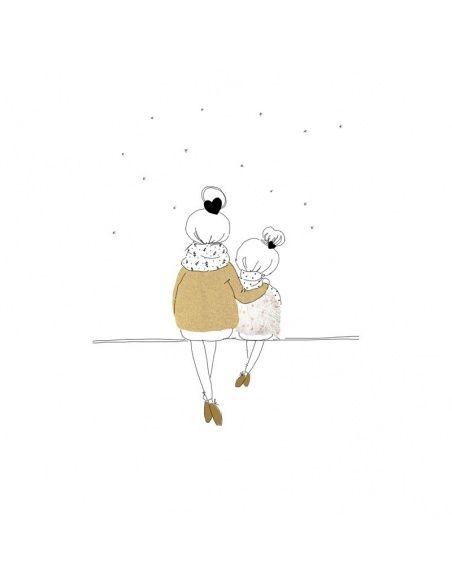 Kartka Love Mum and Girl zima - My Lovely Thing