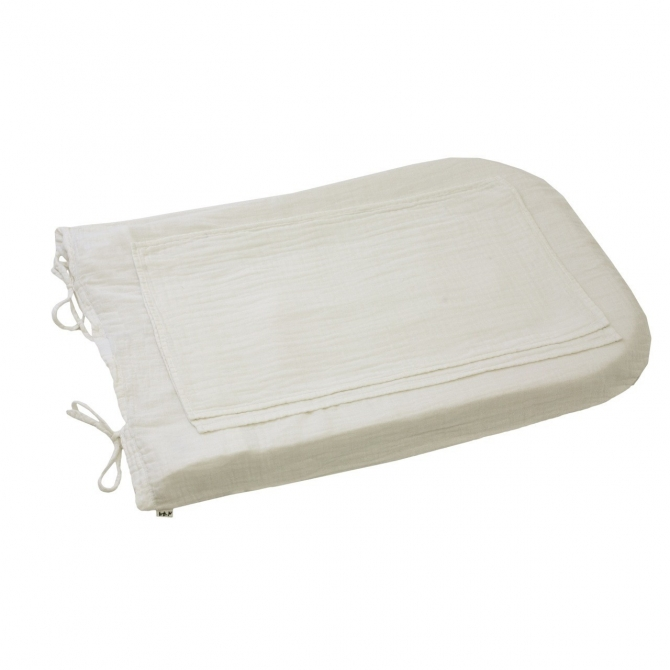 Numero 74 Changing Pad Cover Round white