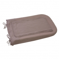 Changing Pad Cover Round dusty pink