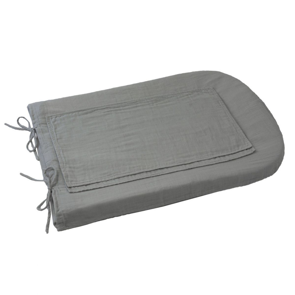 Numero 74 Changing Pad Cover Round silver grey