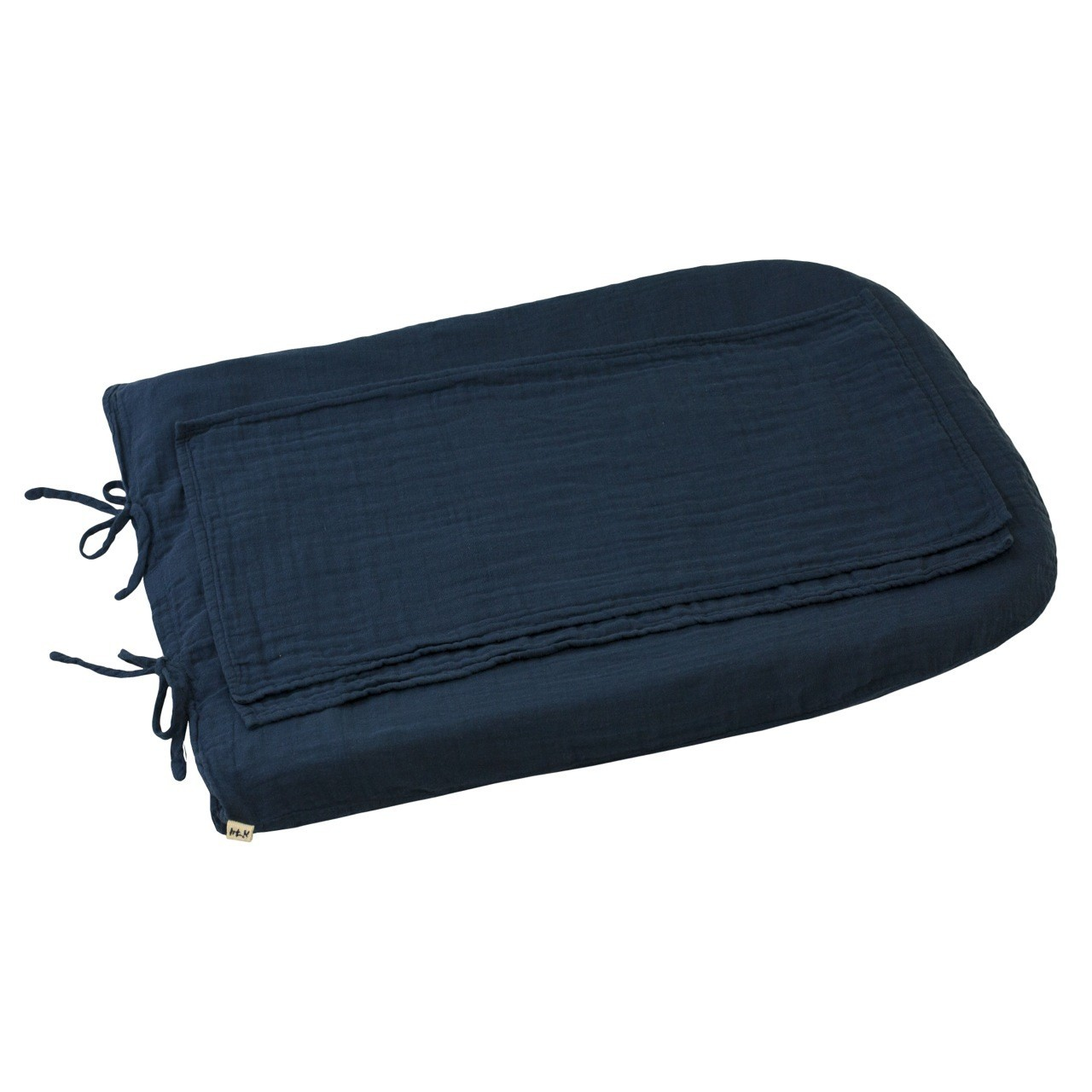 Changing Pad cover round night blue