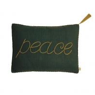 Cushion Message flashy taupe