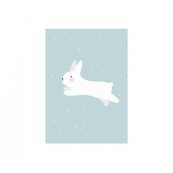 Plakat Poster White Rabbit biały królik - Eef Lillemor