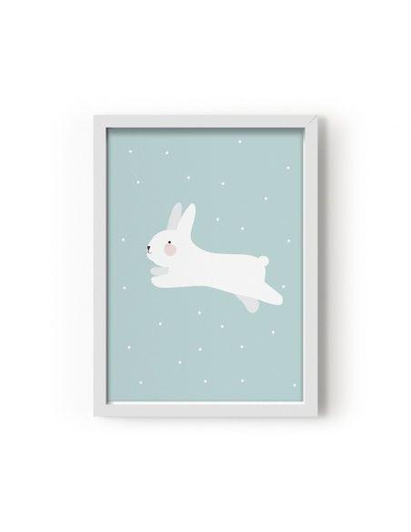 Poster White Rabbit - Eef Lillemor