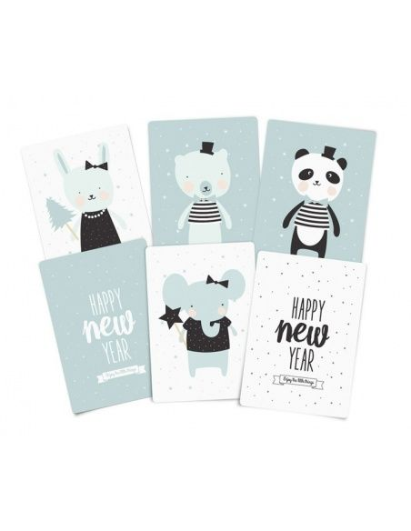 Mini Christmas cards with envelopes - Eef Lillemor