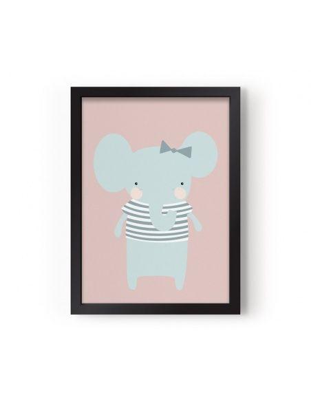 Poster Miss Elephant - Eef Lillemor