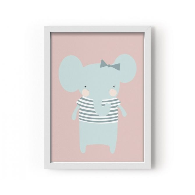 Plakat Poster Miss Elephant pani słoń - Eef Lillemor