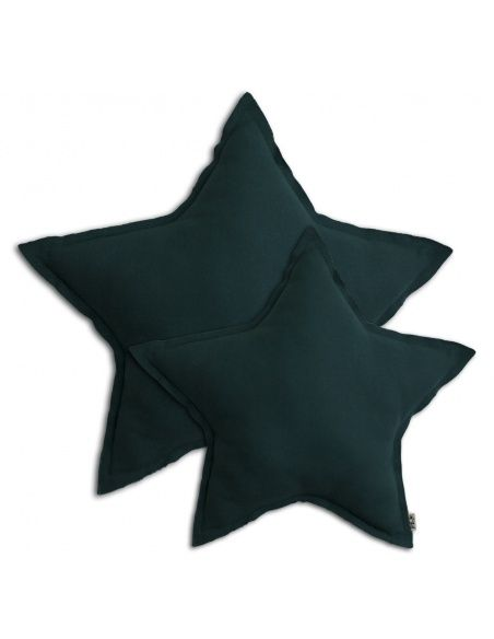Poduszka gwiazda Star cushion teal blue ciemny morski - Numero