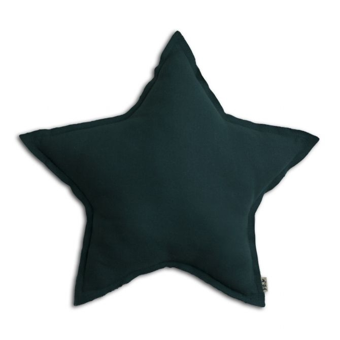 Numero 74 Star cushion teal blue