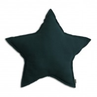 Poduszka gwiazda Star cushion teal blue ciemny morski