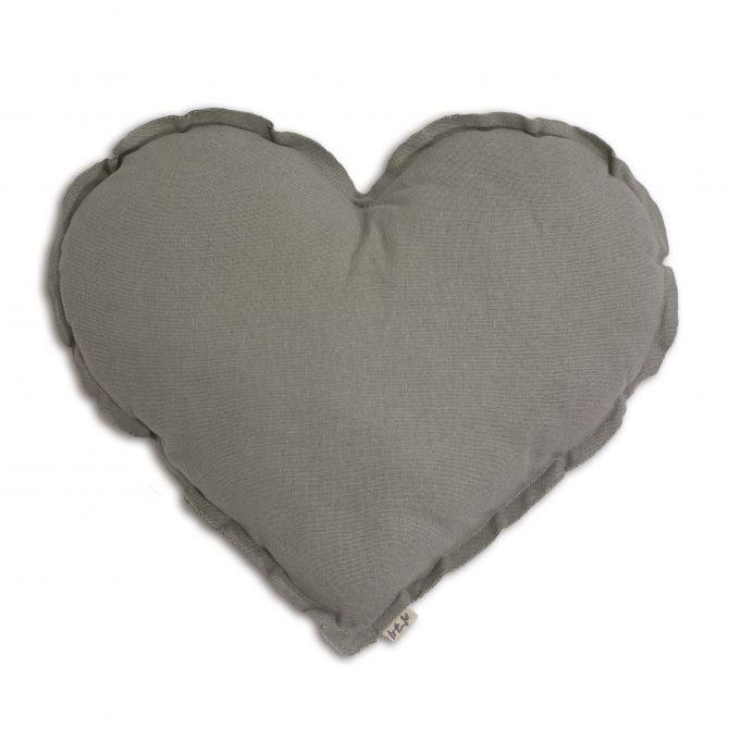 Numero 74 Poduszka Serce srebrnoszara