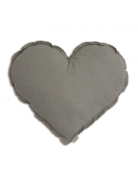 Numero 74 Heart Cushion silver grey