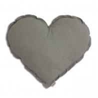Poduszka Serce srebrnoszara