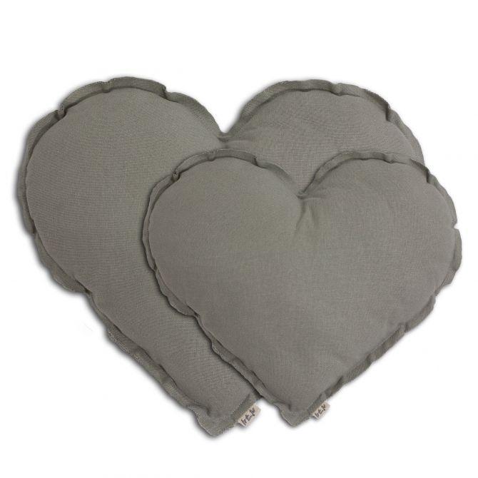 Poduszka Serce Heart Cushion silver grey szary - Numero 74