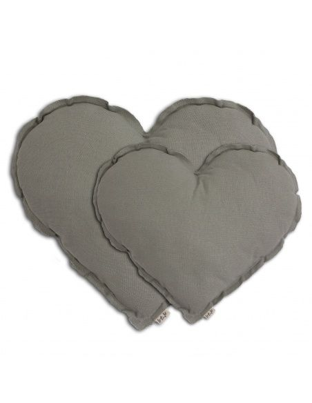 Heart Cushion silver grey - Numero 74