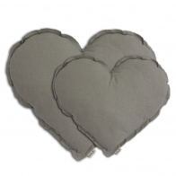 Heart Cushion silver grey