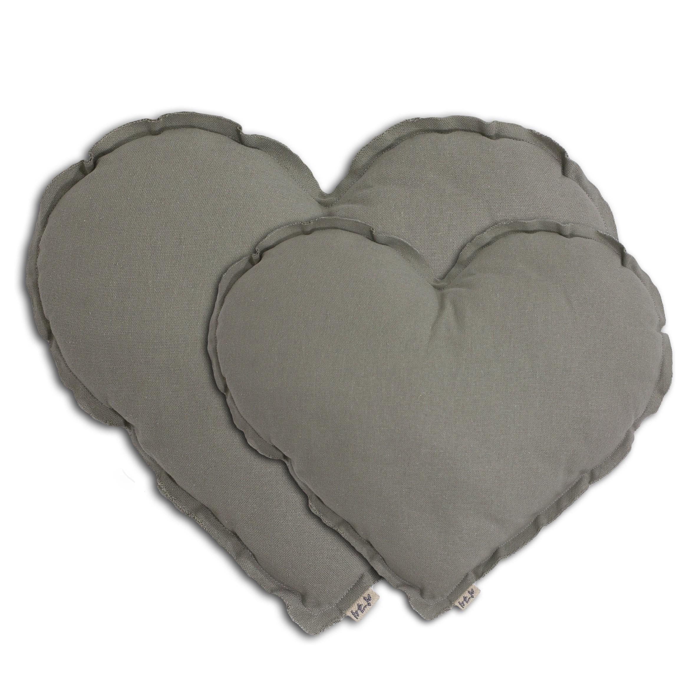 Heart Cushion silver grey