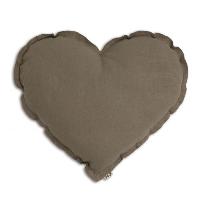 Numero 74 Heart Cushion beige
