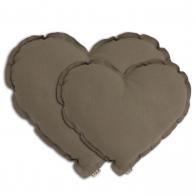 Heart Cushion beige
