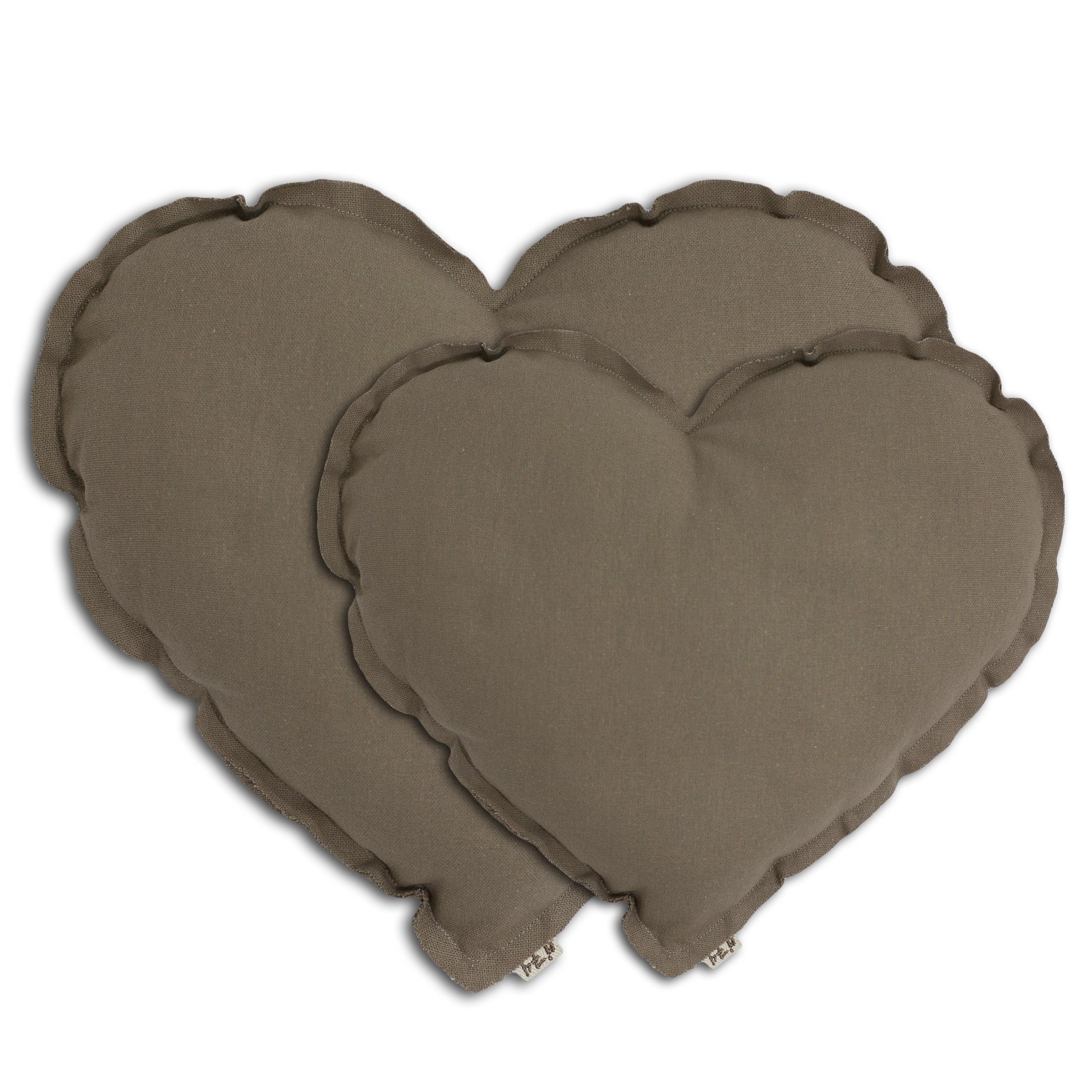 Poduszka Serce Heart Cushion beige beżowa