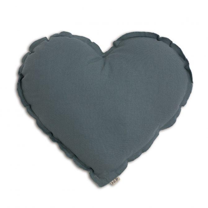 Poduszka Serce szaroniebieska - Numero 74