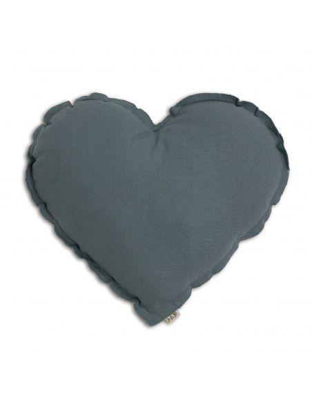 Poduszka Serce Heart Cushion ice blue szaroniebieska - Numero
