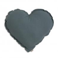 Poduszka Serce szaroniebieska