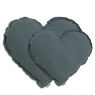 Poduszka Serce Heart Cushion ice blue szaroniebieska