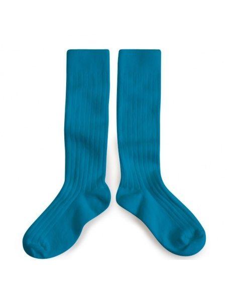 Podkolanówki Kneesocks Joli Paon turquoise turkusowe -