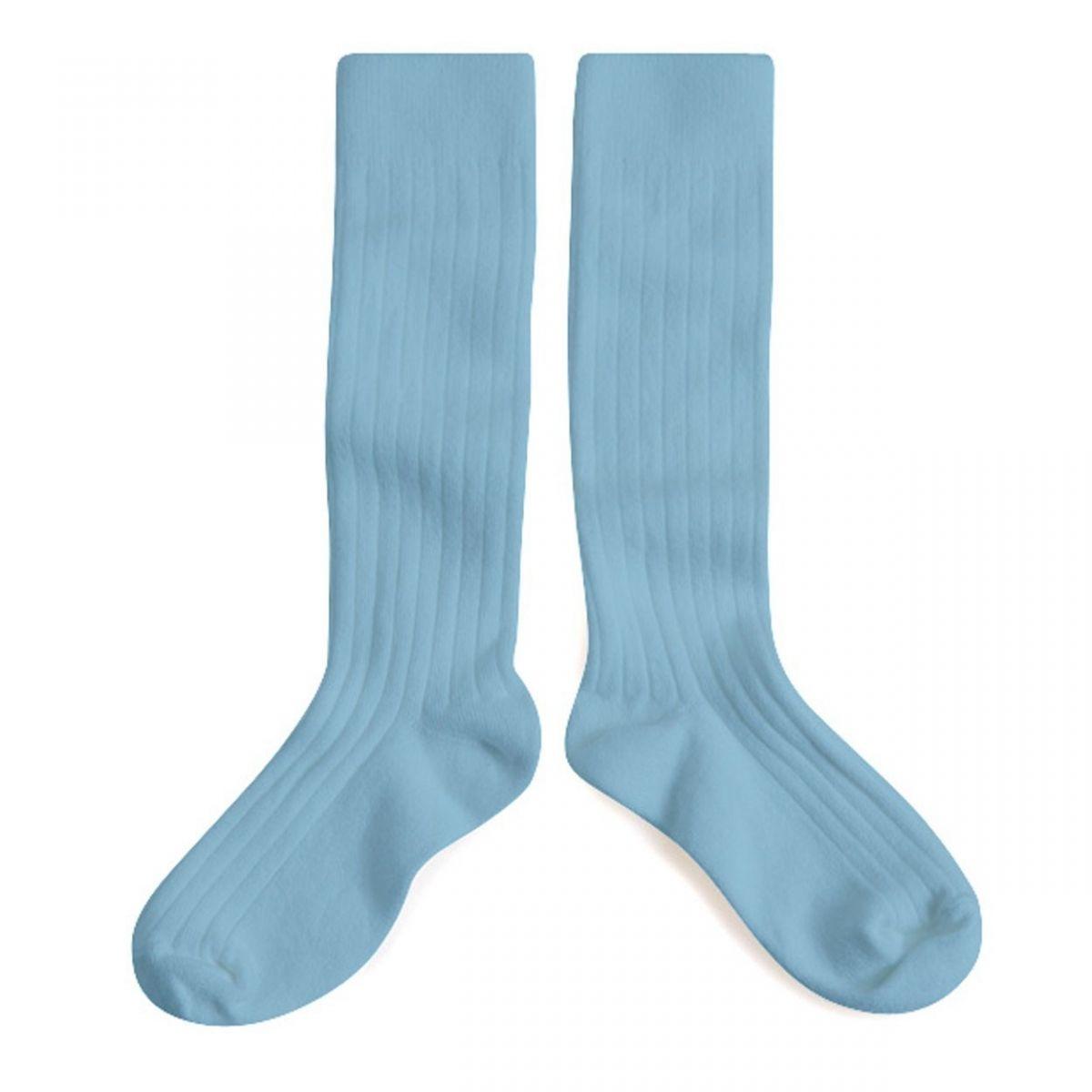 Podkolanówki Kneesocks ZINC light blue jasnoniebieskie -