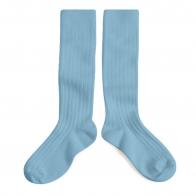 Podkolanówki Kneesocks ZINC light blue jasnoniebieskie