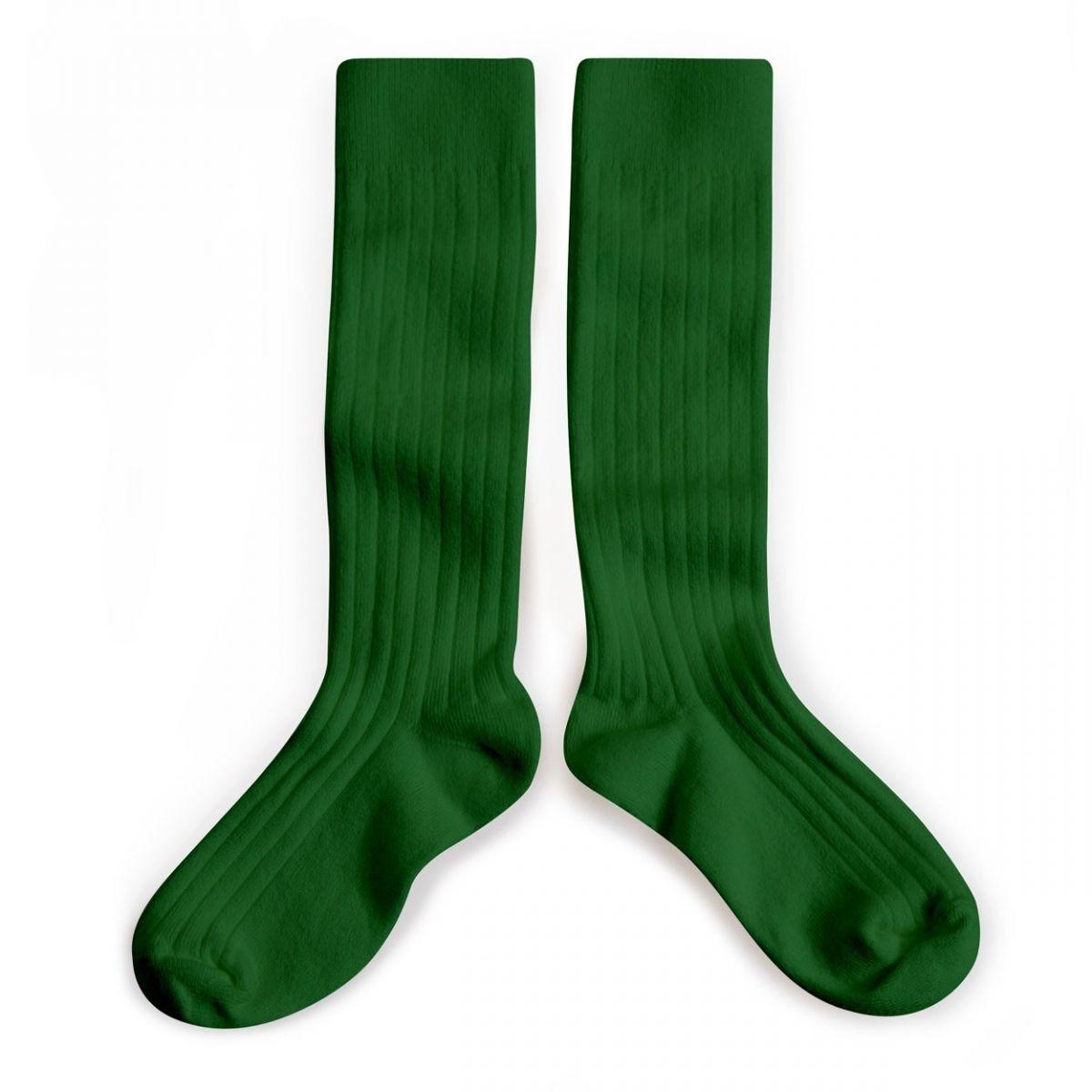 Collégien Podkolanówki Kneesocks Vert Jelly Bean green zielone