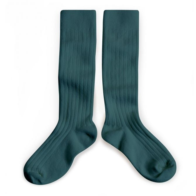 Collégien Podkolanówki Kneesocks Fonds Marins sea green morska