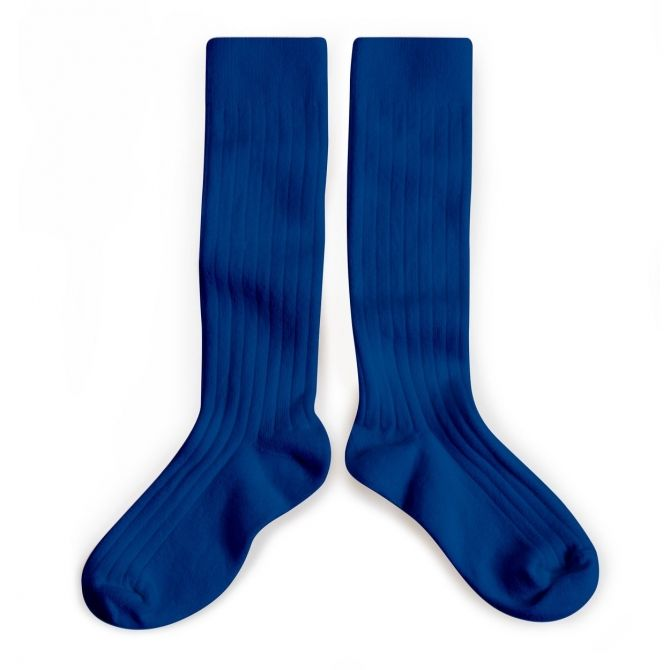 Podkolanówki Kneesocks Bleu Eclatant blue niebieskie -